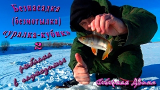 Безнасадка (безмотылка) ''уралка-кубик''. Рыбалка в глухозимье. Северная Двина. ч. 2