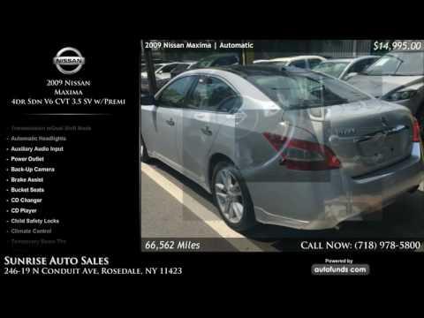 Used 2009 Nissan Maxima | Sunrise Auto Sales, Rosedale, NY