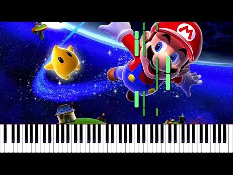 Super Mario Galaxy // To the Gateway | LyricWulf Piano Tutorial on Synthesia