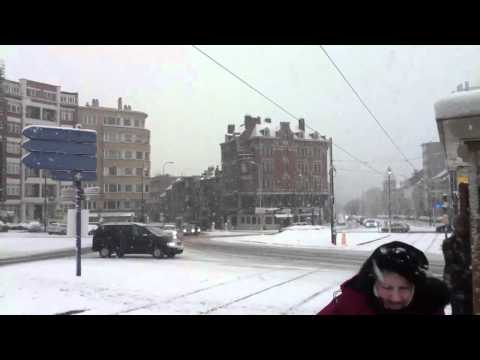 Neige dans Bruxelles