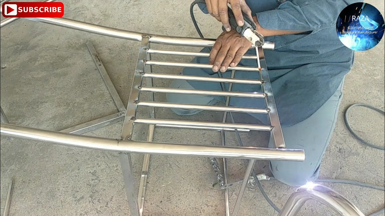 Pipe Chair  Making Stainless Steel Chair