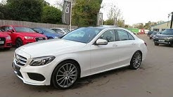 White 2016 Mercedes C250 AMG Line Premium Plus for sale at George Kingsley