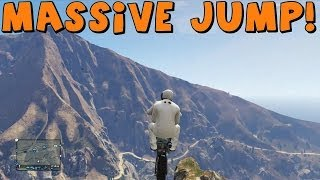 Grand Theft Auto 5 Online | Cliff Jumping And Dirt Bike Fun! | GTA 5 Funny Moments