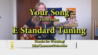 Your Song - Elton John (Bass Cover with Tabs)
