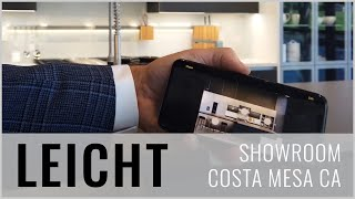 YAN VISITS THE LEICHT SHOWROOM IN COSTA MESA