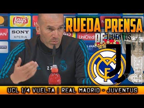 Real Madrid - Juventus RUEDA DE PRENSA de ZIDANE Previa Champions (10/04/2018)