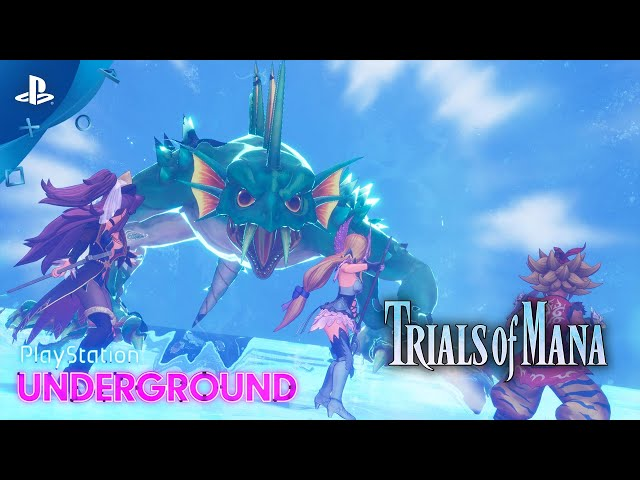 Trials of Mana - Fiegmund Boss Battle | PlayStation Underground