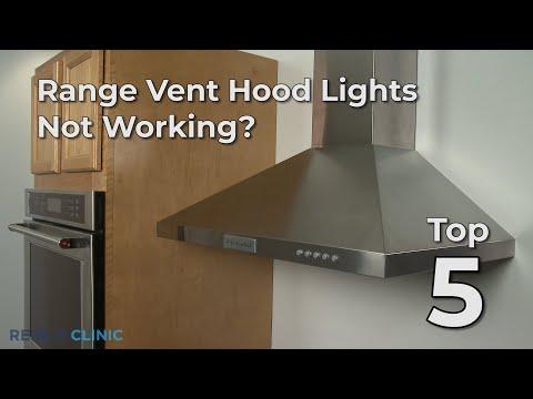 range vent hood lights not working