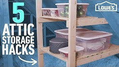 How to Organize Your Attic | 5 Easy Storage Ideas