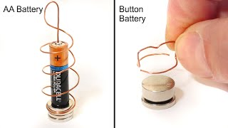 DIY Button Battery Homopolar Motor - Science Experiment