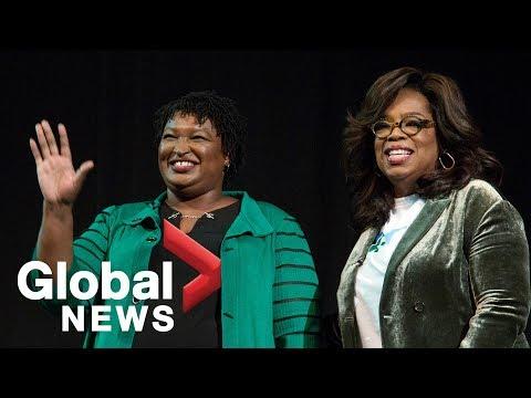 Oprah campaigns for Stacey Abrams in Marietta, Georgia