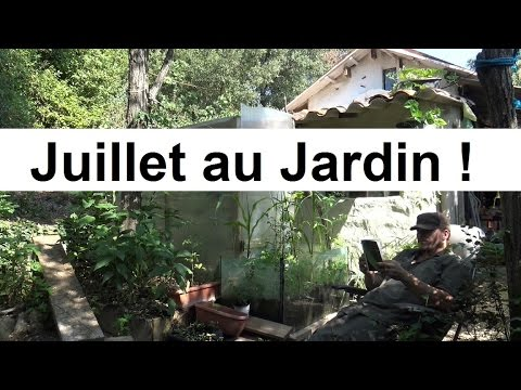 que faire au jardin en juillet youtube. Black Bedroom Furniture Sets. Home Design Ideas