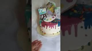 Как украсить торт для художников