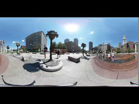 Rings Fountain at Rose Fitzgerald Kennedy Greenway Boston 360°