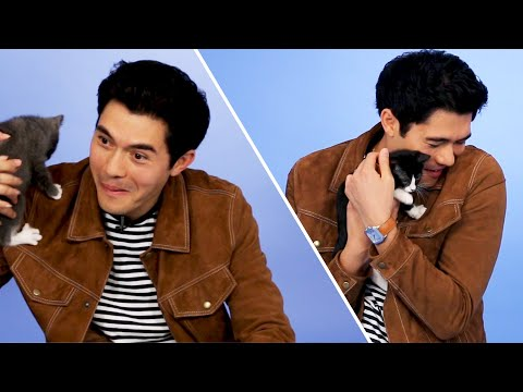 Henry Golding From Crazy Rich Asians Plays With Kittens (While Answering Fan Questions)
