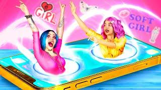 E-Girl vs Soft-Girl / Instagram Girl vs TikTok Girl Food Challenge screenshot 3