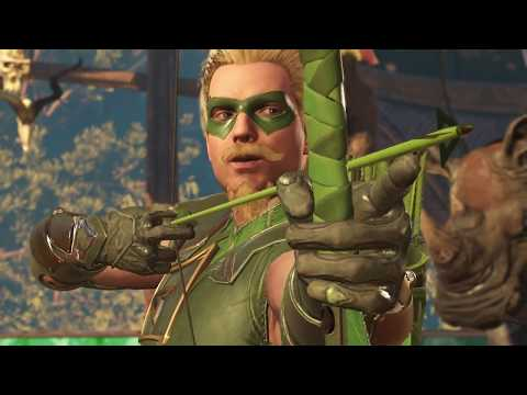 INJUSTICE 2: All Green Arrow Intros (Dialogue & Character Banter) 1080p HD
