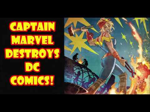 Comic Book Readers Help Captain Marvel Destroy DC Comics