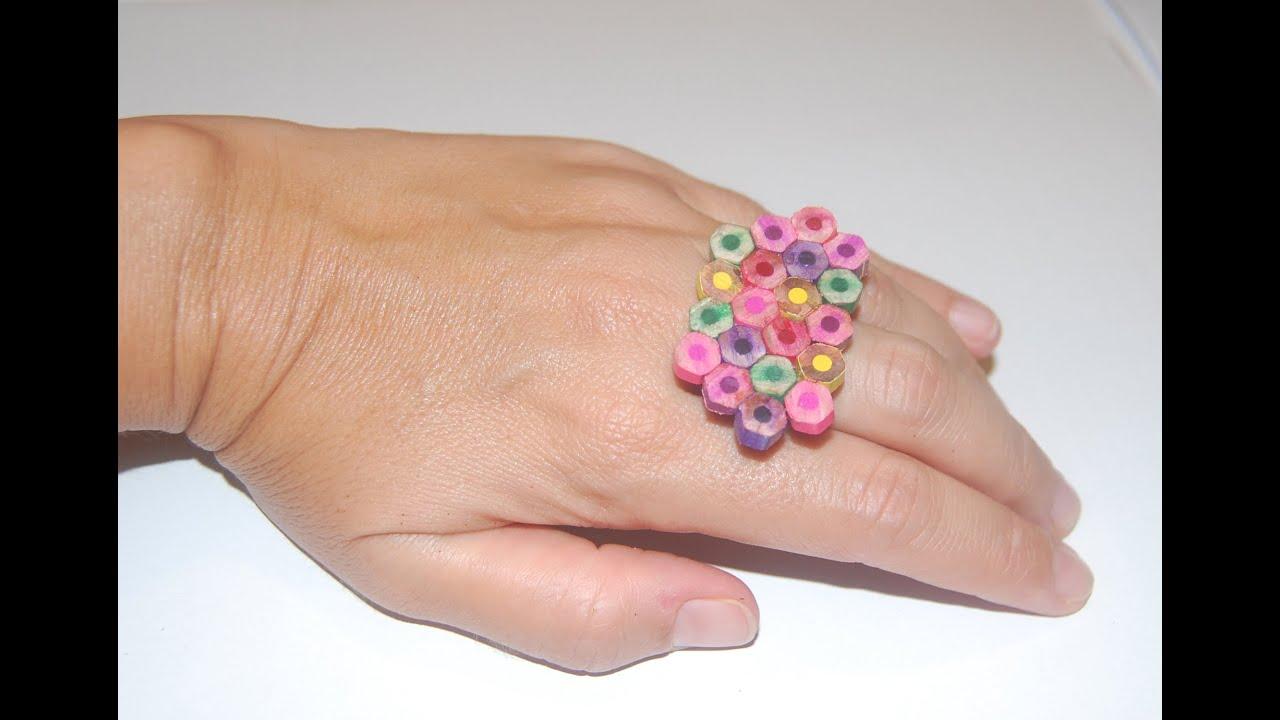 C mo hacer bisuter as con l pices de colores reciclados - Como hacer colores ...