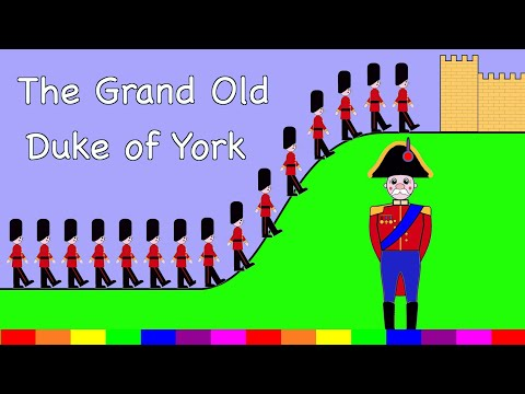 The Grand Old Duke Of York | Nursery Rhyme | Rainbow Rabbit | (Official Video)