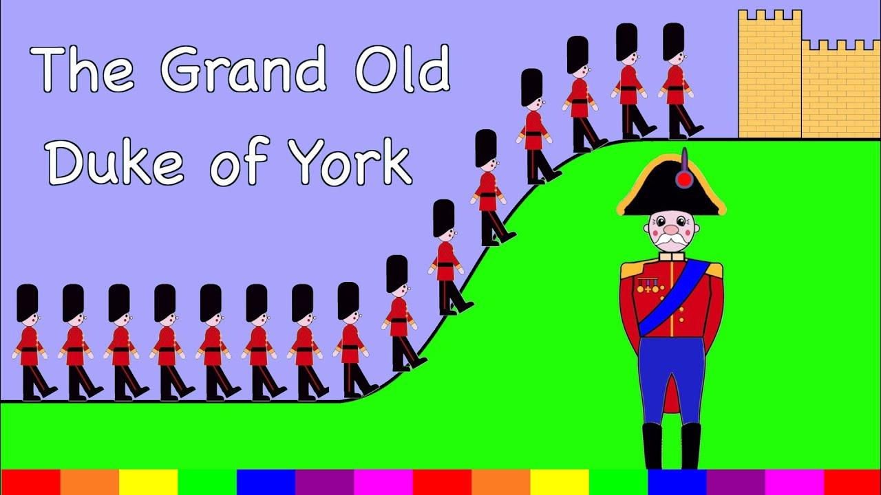 The Grand Old Duke Of York | Nursery Rhyme | Rainbow Rabbit ...