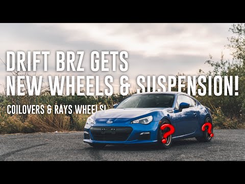 DRIFT BRZ GETS NEW WHEELS AND SUSPENSION!
