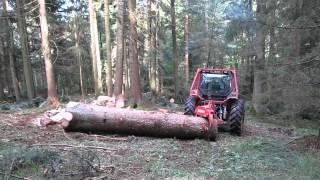 """MAXWALD Rückezange """"Mammut"""" auf Valtra mit Forstverbau"""