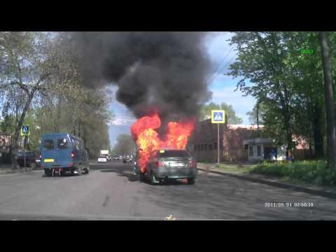Взрыв машины на