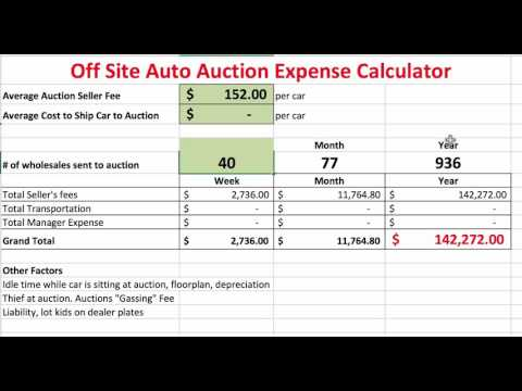 The True Cost of Auto Auction Fees ( UNBELIEVABLE )