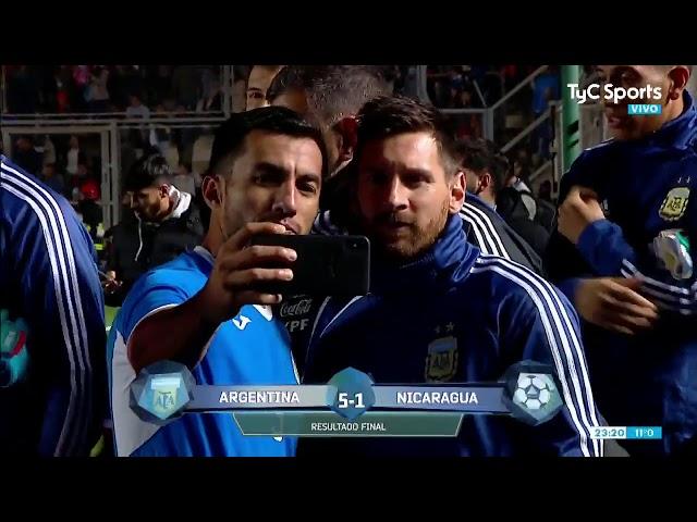 Argentina-Nicaragua: Los jugadores visitantes, a la caza de una foto con Messi