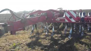 Тигр в поле, безотвальная вспашка, подготовка почвы к посеву озимой пшеницы, посевная 2015 осен