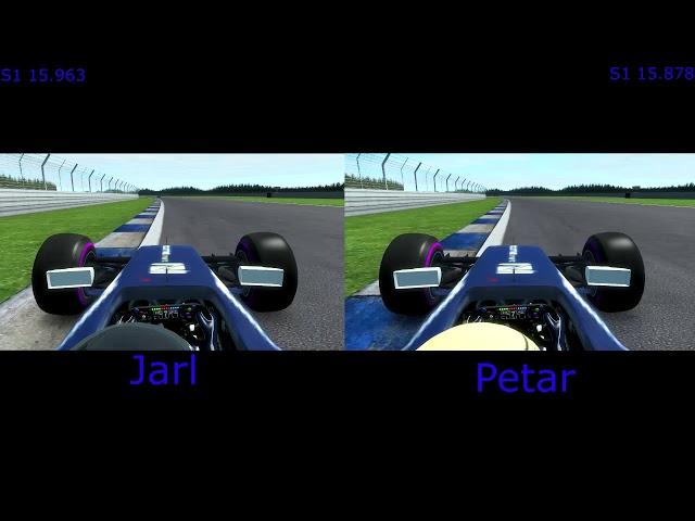 Edge Esports WTF1 GPVWC.com SL Qualifying Lap Comparison Jarl Teien VS Petar Brljak