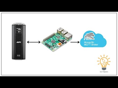 Monitor UPS Power Events on MQTT Client using Raspberry Pi and Apcupsd
