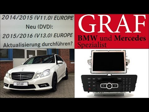 Mercedes Navigationssystem Update E-Klasse W212 W207 NTG Softwareupdate Comand Navi Software