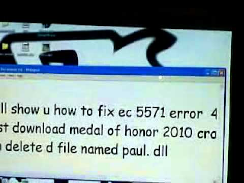 medal of honor ec 5571 error solution 100 % working.mp4