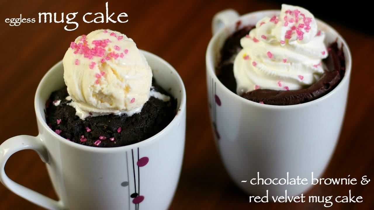 mug cake | microwave cake recipe | brownie mug cake & red ...