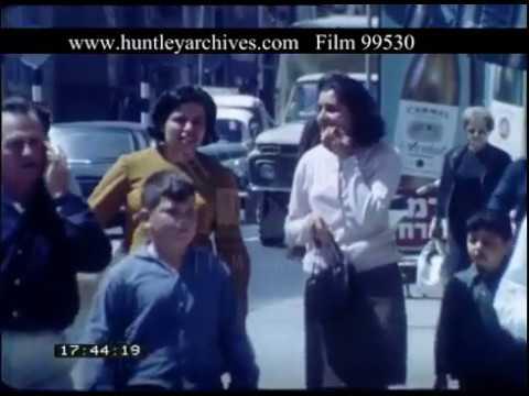 Tel Aviv Streets And People Israel, 1960s - Film 99530