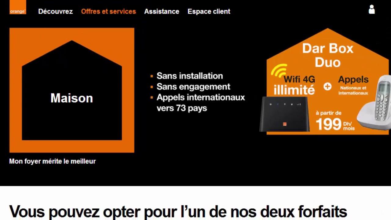 Dar Box Duo Orange Maroc 4G جميع المعلومات قبل شراء
