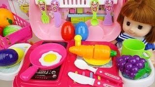 Baby doll kitchen car food cooking play baby Doli story