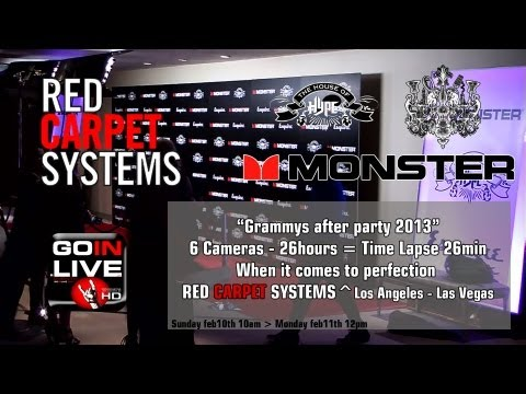 Grammys 2013 Party by Red Carpet Systems True HD time lapse