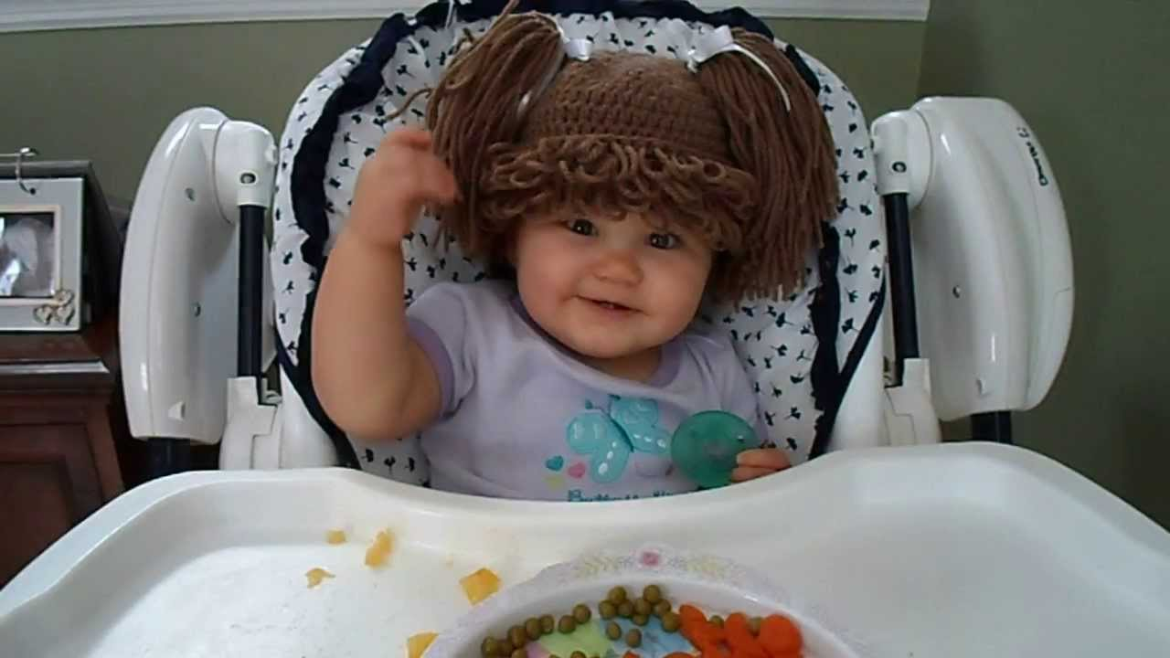 My Little Cabbage Patch Penny Eating Her Lunch! - YouTube