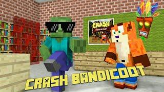 monster school - CRASH BANDICOOT CHALLENGE - Minecraft animation