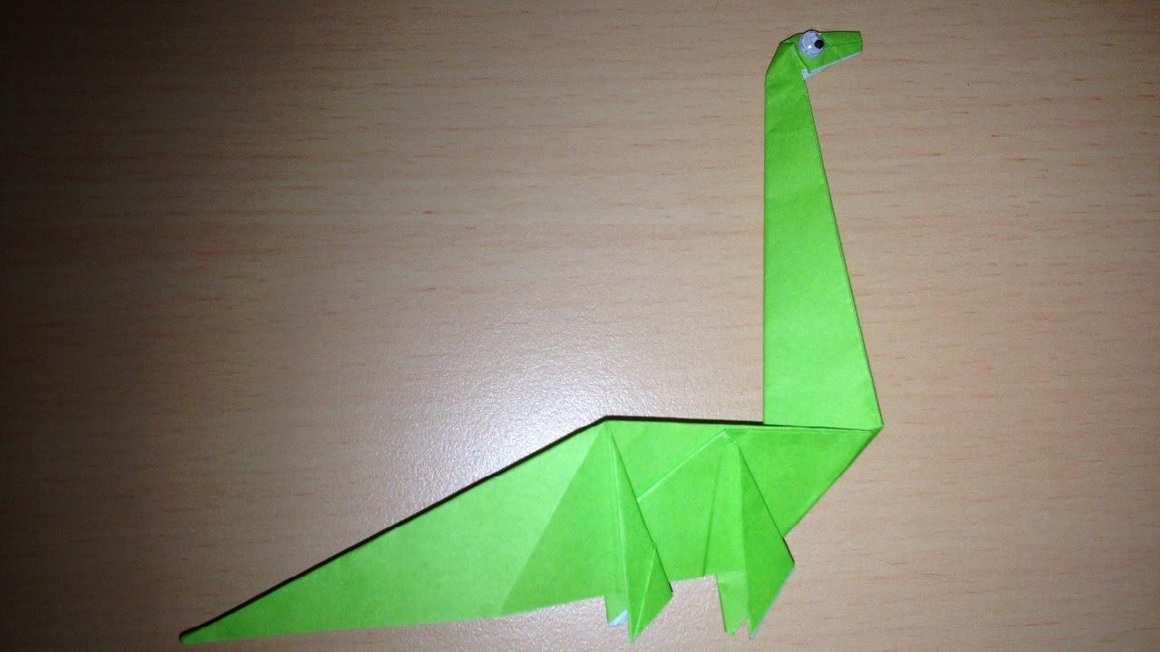 折り紙の恐竜 簡単な折り方 Origami dinosaur easy - YouTube