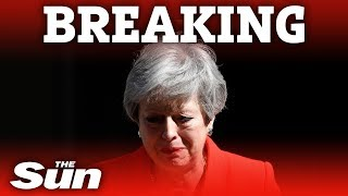Theresa May cries as she announces her resignation