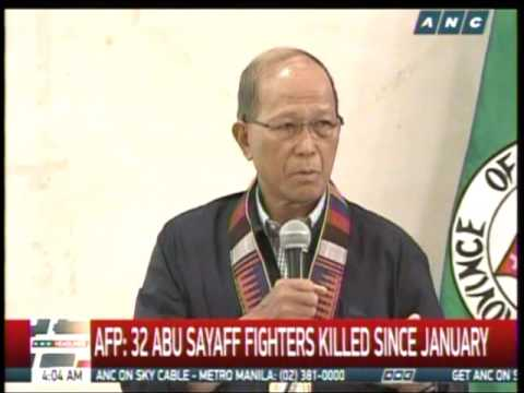 AFP: 32 Abu Sayyaf fighters killed since January