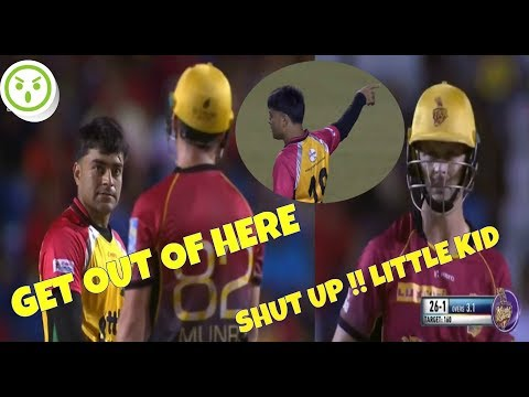 Rashid khan vs Colin Munro - Epic Battle In 2nd Eliminator , Sep 8 CPL 2017 TKR vs GAW