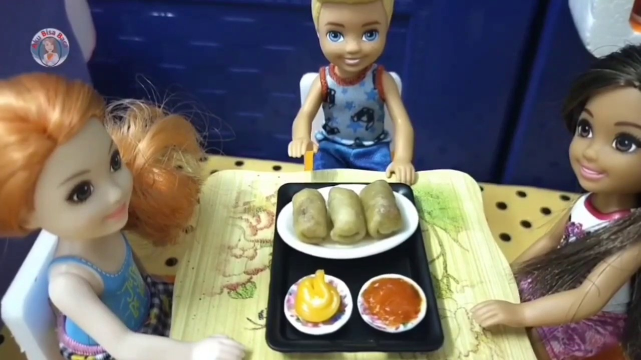 Miniature Risoles Ayam Pedas Mini Real Cooking With Dapur Barbie Masak Youtube
