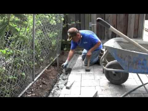 how to build a stone driveway a slope
