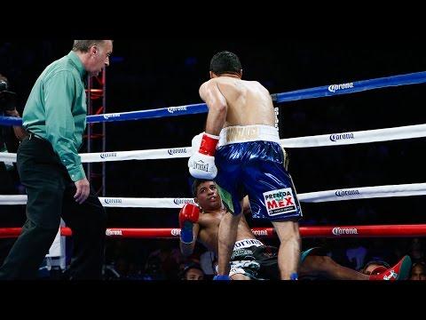 Jhonny Gonzalez 1st Round KO Upset over Abner Mares