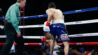 8/24/2013 - Highlights of Jhonny Gonzalez's stunning first round knockout over Abner Mares, which helped him regain his WBC featherweight title. Gonzalez ...